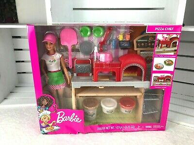 Barbie Pizza CHef Doll Blonde & Play set.