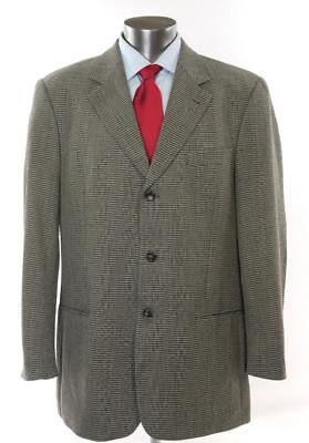 0a655914d HUGO BOSS Einstein Speckled Woven Wool Sports Coat Blazer Jacket 44 L USA  Made