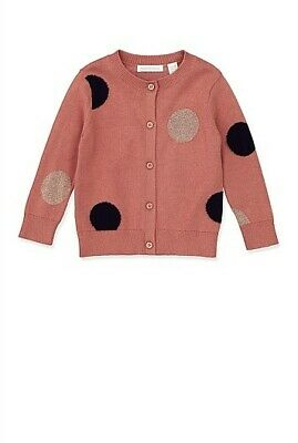 BNWOT current season Country Road Rosewood baby girls sz 00 spot knit cardigan