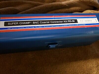 AMP Vintage Super Champ BNC Coaxial Connector Kit RG-59 USA NOS