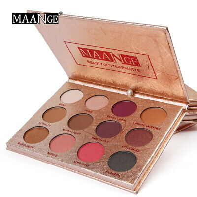12/18 Color Eyeshadow Palette Naked Matte Pearl Eye Shadows Natural Waterproof