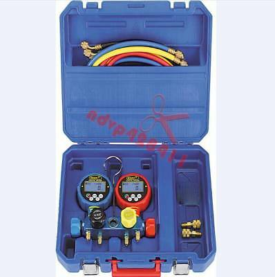 4 Valve Digital Testing Manifolds Gauge Kit With 4 Pcs Of Charging Hose  WK-6884
