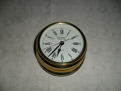 Jerger Marine Time Schiffsuhr Wanduhr Messing Made In Germany