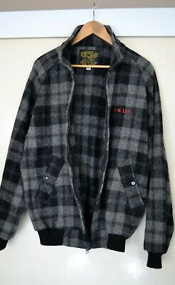 Norwellan Bluey Wool Checked Showerproof Bomber Jacket - Xl - 112 Cm Regular