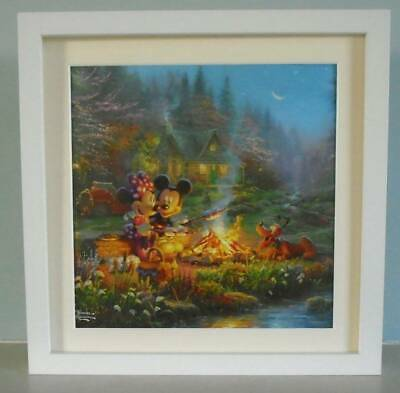 Thomas Kinkade - Mickey Mouse And Minnie Mouse At Campfire - Framed - Disney