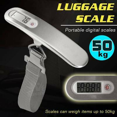 50kg Hand Held Digital Portable Travel Weighing Electronic Luggage Bag LED Scale