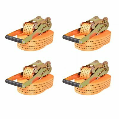 Sangle d'arrimage à cliquet 4 pcs 4 tonnes 8 m x 50 mm Orange V5K4