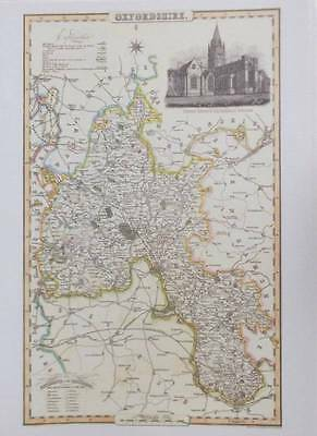 Map of the County of OXFORDSHIRE : 1840 Pigot and Co -  Reproduction