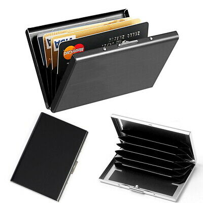 RFID Blocking Stainless Steel Slim Wallet ID Credit Card Holder Case Money Clip