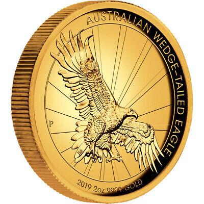 2019 Australian Wedge-Tailed Eagle 2oz Gold Proof High Relief Coin