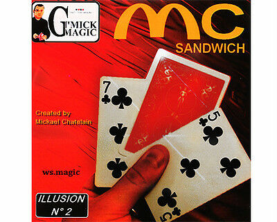 Mc Sandwich by Mickael Chatelin Magic Trick Bicycle Gaff Close Up Street Parlor