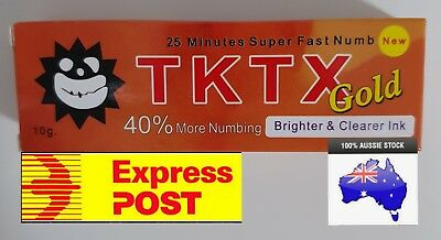 1 X gold 40% Tattoo PAIN FREE numbing lotion wax lazer eyebrows numb cream