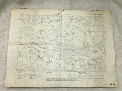 1910 Antique Map of Sussex Staple Cross Ewhurst Staplecross Rother