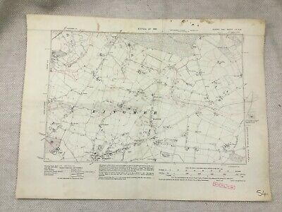 1931 Old Map of East Sussex Ringmer Village  Lewes District Vintage Original