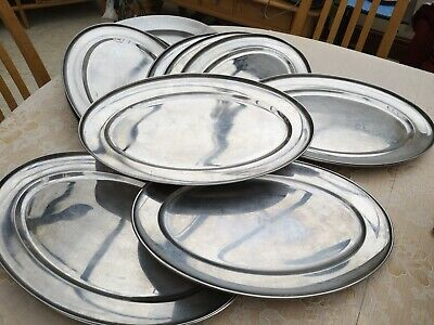 Oval Tray Stainless Steel Trays Bread Plate Camping Plates Baking Gold L