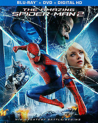 The Amazing Spider-Man 2 (Blu-ray+DVD+Digital HD w/ Slipcover, 2014, NEW) Marvel