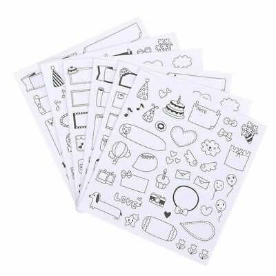 Cute DIY  Paper Sticker Photo Album Scrapbook Calendar Diary Planner Decor