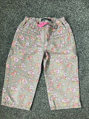 Mini Boden Cotton Cropped Trousers - Age 5