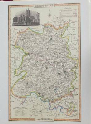 Map of the County of SHROPSHIRE : 1840 Pigot and Co -  Reproduction