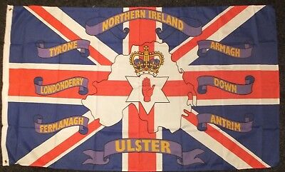 Ulster Loyalist British Reaper Souvenir Flag 3X5FT