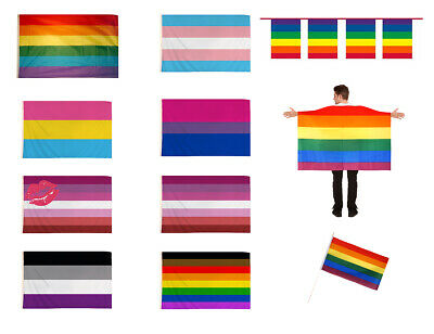 Pride Flags Parade Pan Asexual Flag Lesbian Transgender Bisexual Gay Rainbow