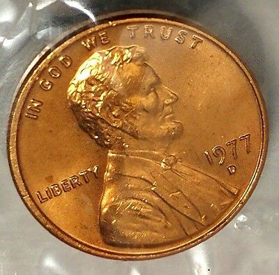 1977-D 1C Lincoln Memorial Cent 17ws0209 BU/Mint Set Only 50 Cents for Shipping
