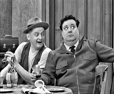 """Jackie Gleason And Art Carney In """"The Honeymooners"""" - 8X10 Publicity Photo"""