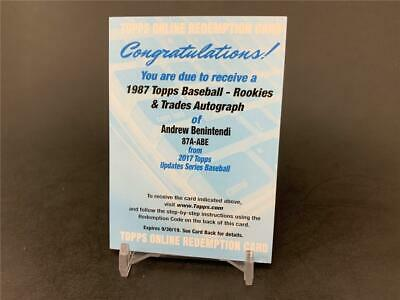 2017 Topps Update Andrew Benintendi 87A-Abe 1987 Rookies & Trades Rookie Auto