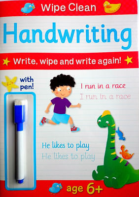 NEW Wipe Clean HANDWRITING Book with PEN Age 6+ Ready for School Learning 2019