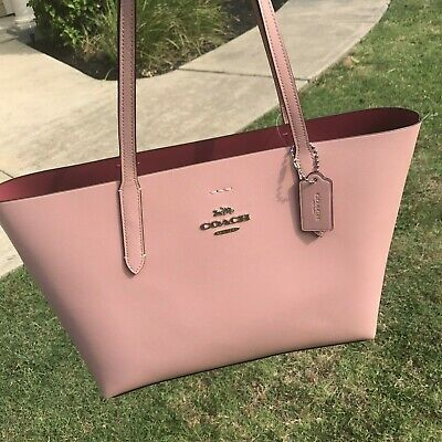a64b03f903 COACH AVENUE TOTE in Double faced textured leather F31535 light Pink ...