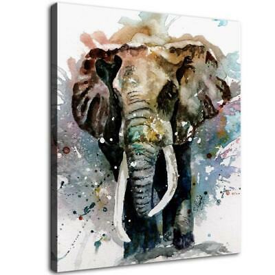 "12""x14""Elephant HD Canvas prints Painting Home Decor Picture  Wall art Poster"