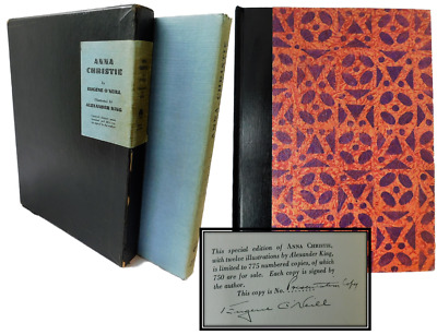 Eugene O'neill,1930 Signed Limited, Anna Christie, Alexander King Illustrated