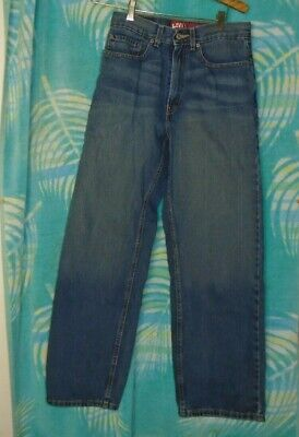 Boys Levis 569 Jeans 18 Slim 27x29 Denim Loose Straight Leg Blue 5 Pocket EUC