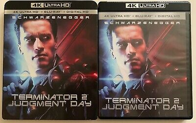 Terminator 2 Judgment Day 4K Ultra Hd Blu Ray 2 Disc + Rare Oop Slipcover Sleeve