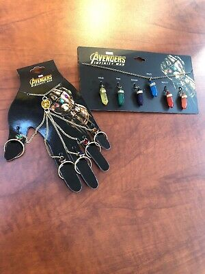MARVEL AVENGERS INFINITY WAR GAUNTLET HAND BRACELET & NECKLACE End Game Sold Out