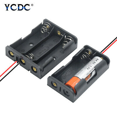 1X 2X 3X 4X 8X Multi Purposes DIY AA Battery Holder LR6 Container+Lead Cables