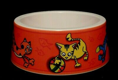 Fun Gibson Home Purina Cat Food Water Bowl Non Slip Base Coating Great Graphics!