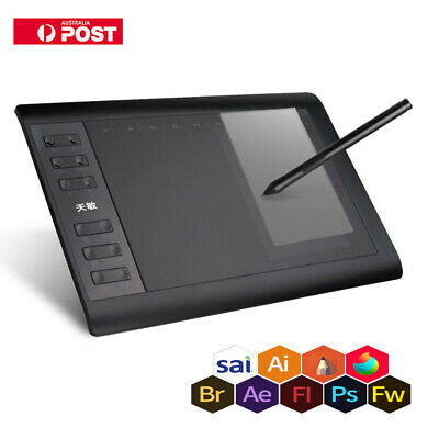 Digital Graphic Drawing Animation Tablet Pad 10*6''with Wireless Stylus B8R9 NEW