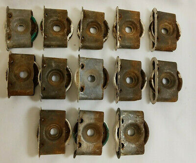 Antique Vintage Window Sash Pulley Weights Wheel Rollers Lot of 13 Steampunk