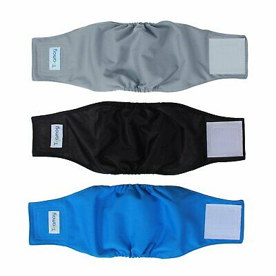 Teamoy MEDIUM Washable Reuseable Male Dog Diapers Belly Bands