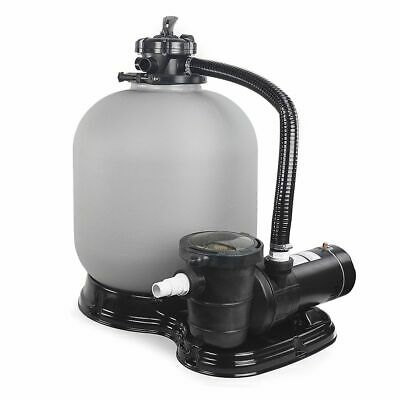 "Above Ground Swimming Pool Sand Filter System with Pump 4500GPH 19"" 1HP"