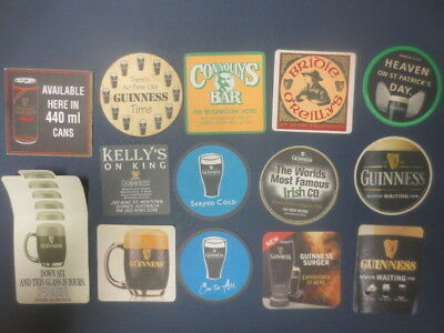 14 different GUINNESS Brewery AUSTRALIAN Issue BEER Coasters collectable A