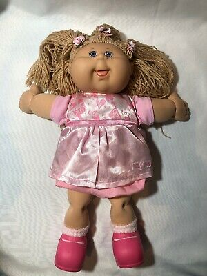 Cabbage Patch Long Blonde Hair Doll Original Dress And Shoes