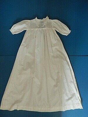 "Christening Gown Robe Victorian. Hand embroidered. Perfect. 33"" tall."