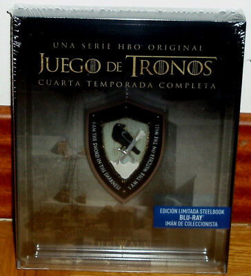 Game of Thrones 4º Complete Season Limited Edition Steelbook 4 Blu-Ray New