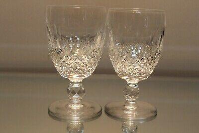 Two (2) Waterford Crystal Colleen Claret Wine Glasses Short Stem Stemware  4 3/4