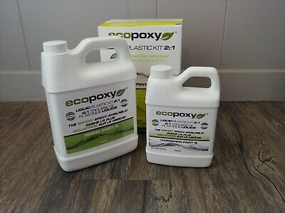 ECOPOXY 2:1 Ratio Liquid Plastic Kit 1.5 liter epoxy river table art craft woodB