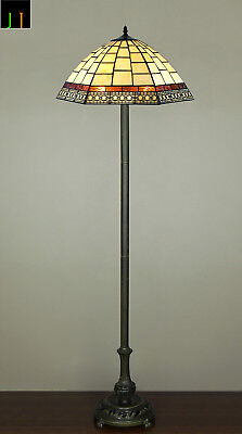 EOFY Sale Tiffany Valley Forge Stained Glass Floor Lamp Art Deco Leadlight