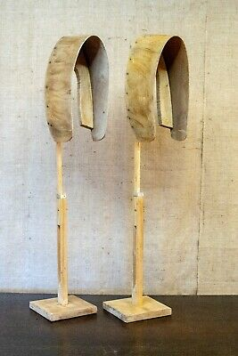 Vintage Breton Hat Stands, The Handmaid's Tale, pair of, wooden, extendable