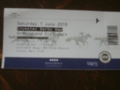 epsom derby  saturday 1st june 2019 ticket used